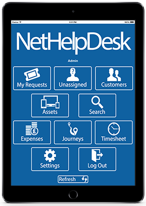 Help Desk Software iPad App Preview